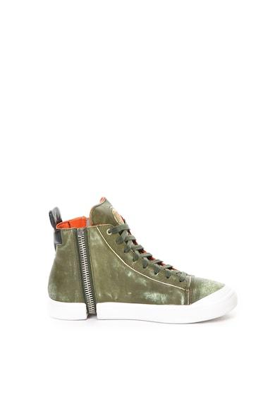 Diesel Pantofi sport mid-high de piele si piele ecologica Nentish Barbati