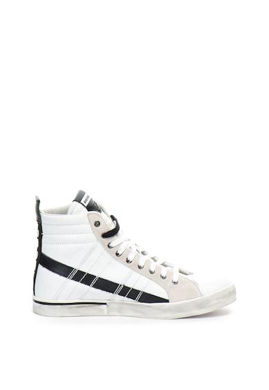 Diesel Pantofi sport mid-high de piele, cu aspect uzat Velows Barbati