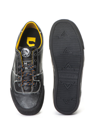 Diesel Pantofi sport de piele cu aspect decolorat Flip Barbati