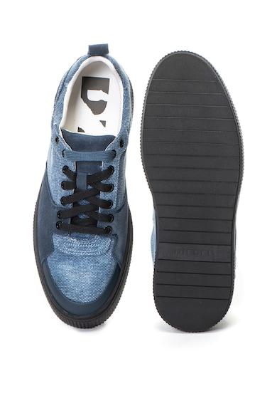 Diesel Danny nyersbőr és textil sneakers cipő férfi