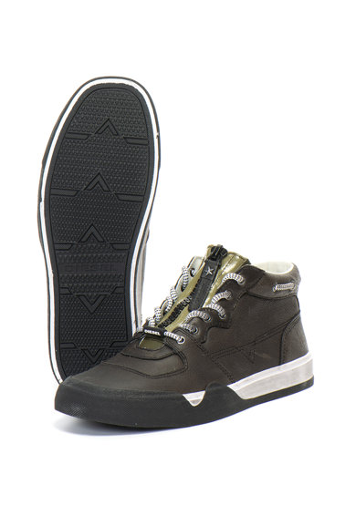 Diesel Grindd középmagas szárú bőr sneakers cipő férfi