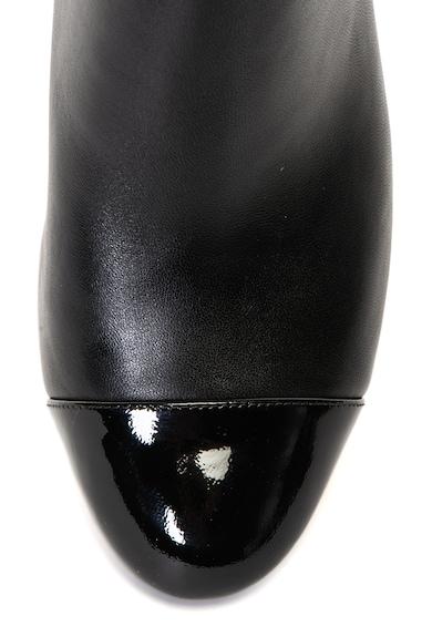 Michael Kors Marcie bőr bokacsizma vastag sarokkal női