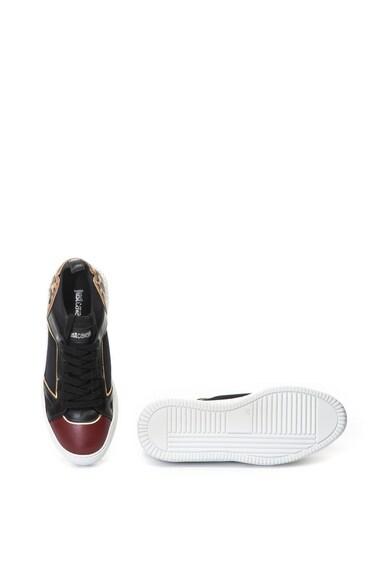 JUST CAVALLI Pantofi sport slip-on cu garnituri de piele Femei