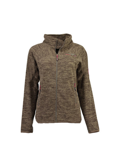 Geographical Norway Bluza sport de fleece, cu fermoar si imprimeu logo Tyrell Femei