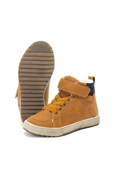 Z Kids Pantofi sport inalti de piele ecologica cu captuseala calduroasa Baieti