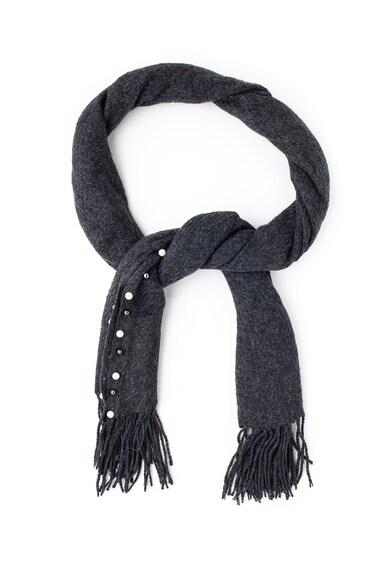 Gian Marco Venturi Плетен шал с ресни и декорации Жени