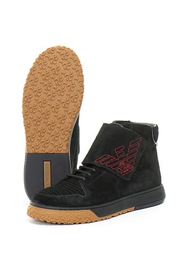 Emporio Armani Велурени спортни обувки Мъже