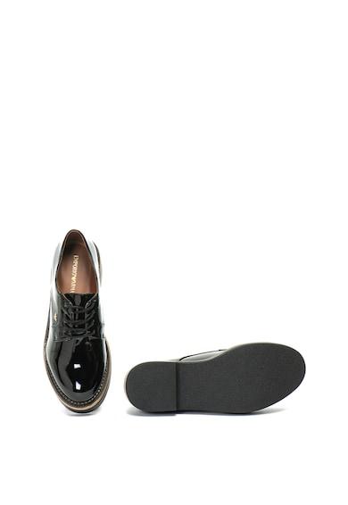 Emporio Armani Pantofi lacuiti cu toc masiv Femei
