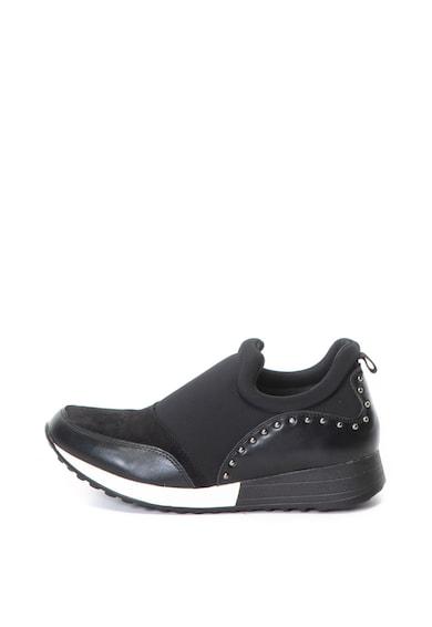 Francesco Milano Textil és műbőr bebújós sneakers cipő női