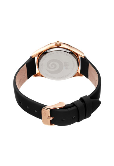 BURGI Овален часовник с кожена каишка Жени