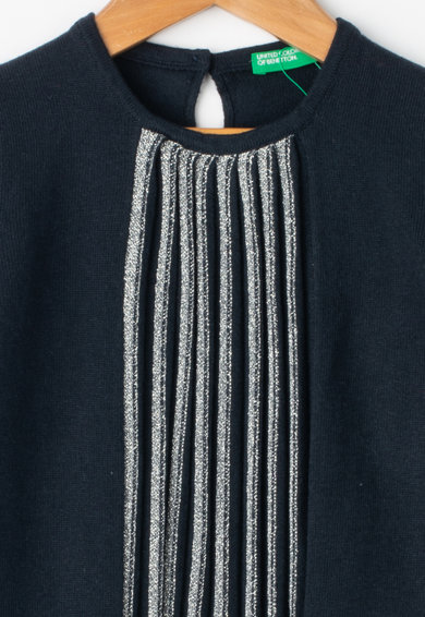 United Colors of Benetton Rochie din amestec de lana cu insertii cu fir stralucitor Fete