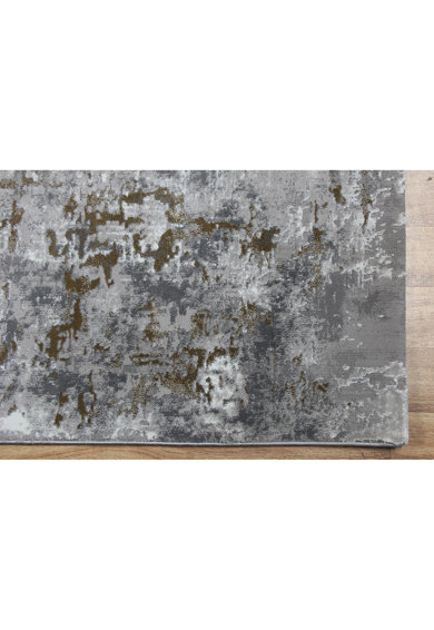 Eko Halı Covor CM 08  100% poliester, 120x170 cm, gri/auriu Femei