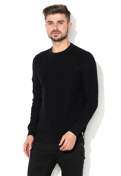 Tom Tailor Kötött pulóver logóval férfi