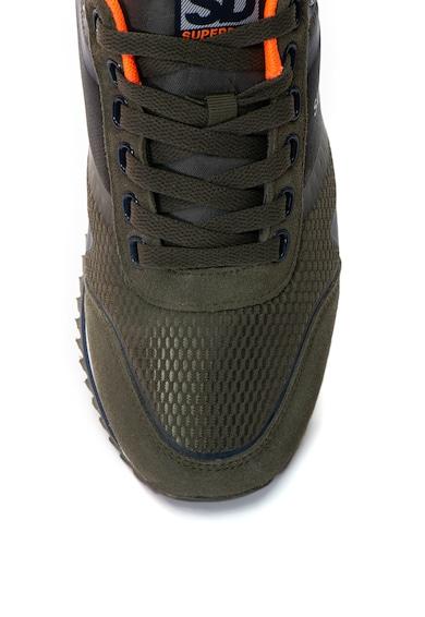 SUPERDRY Pantofi sport cu garnituri de piele intoarsa Fero Runner Barbati