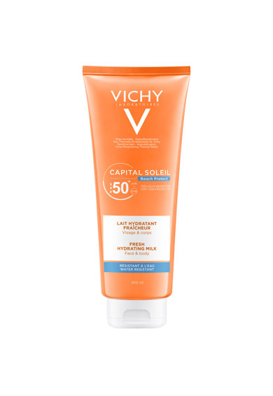 Vichy Lapte hidratant  CAPITAL SOLEIL pentru fata si corp SPF50, 300 ml Femei