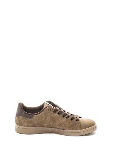 Australian Pantofi sport de piele ecologica cu logo brodat Barbati