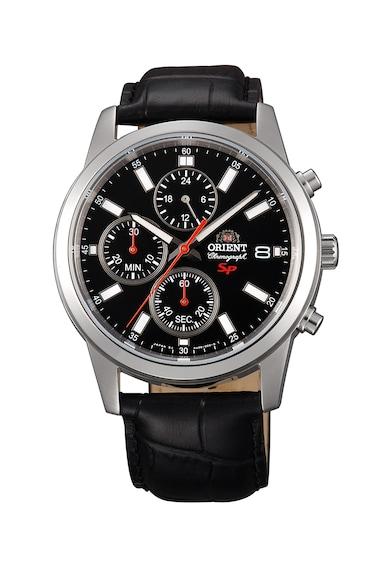 ORIENT Часовник с хронометър и кожена каишка Мъже