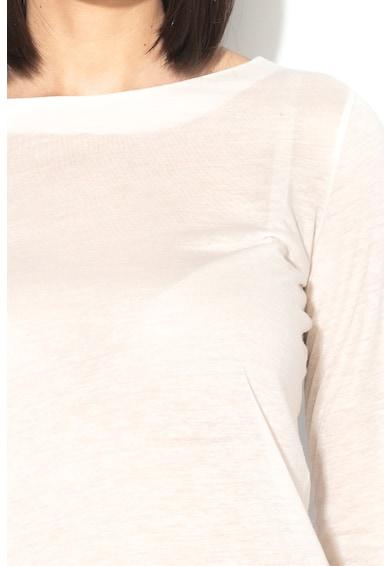 Stefanel Bluza din amestec de lyocell si lana, cu maneci lungi Femei