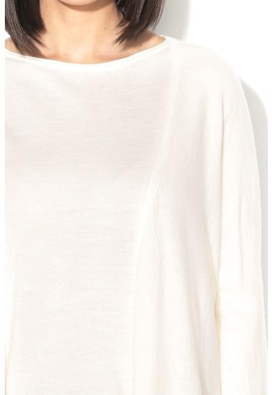 Stefanel Cardigan de lana fara inchidere, cu mansete tip clopot Femei