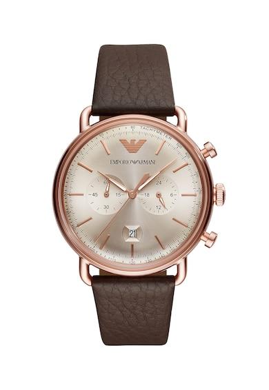 Emporio Armani Часовник Aviator с кожена каишка и хронограф Мъже