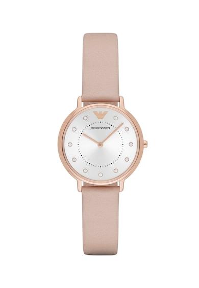 Emporio Armani Часовник Kappa с кожена каишка Жени