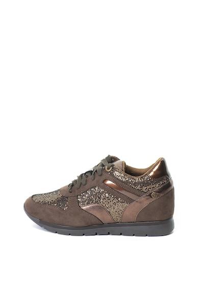 Xti Pantofi sport cu talpa wedge ascunsa si detalii stralucitoare Femei