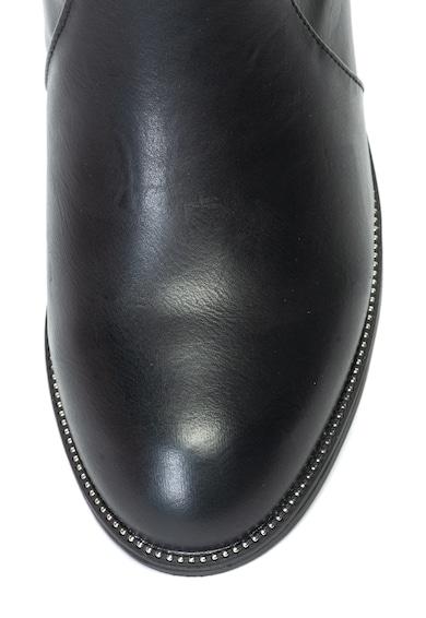 Xti Cizme lungi pana la genunchi de piele ecologica, cu insertii din material textil Femei