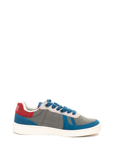 Pepe Jeans London Kids, Pantofi sport din material textil si piele intoarsa Brompton Fete