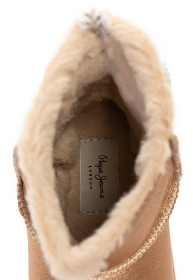 Pepe Jeans London Cizme scurte de piele ecologica, fara inchidere, cu captuseala cu aspect pufos Angel Baieti
