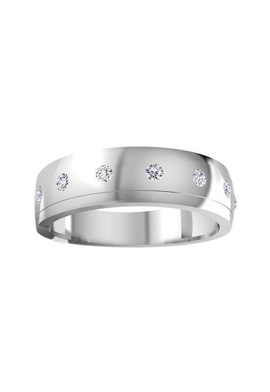 Dhamont Inel din aur alb, decorat cu 5 diamante Femei