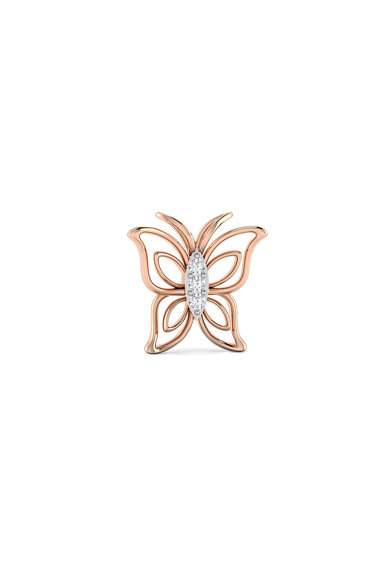 Dhamont Cercei de aur de 14k cu 6 diamante Femei