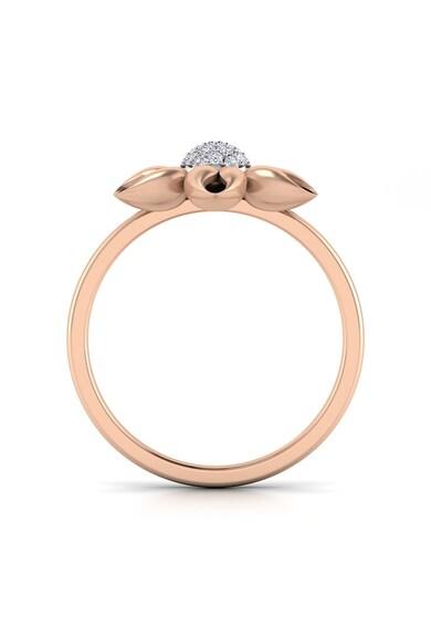Dhamont Inel de aur de 14k cu 19 diamante Femei