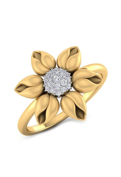 Dhamont Inel din aur de 14k, decorat cu 19 diamante Femei