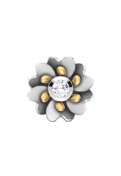 Dhamont Cercei cu tija, in forma de floare decorati cu 2 diamante Femei