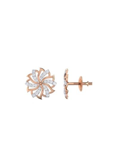 Dhamont Cercei in forma de floare decorati cu 48 de diamante Femei