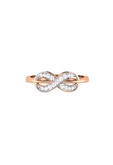 Dhamont Inel cu detaliu semnul infinitului, decorat cu 17 diamante Femei