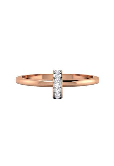 Dhamont Inel decorat cu 9 diamante Femei