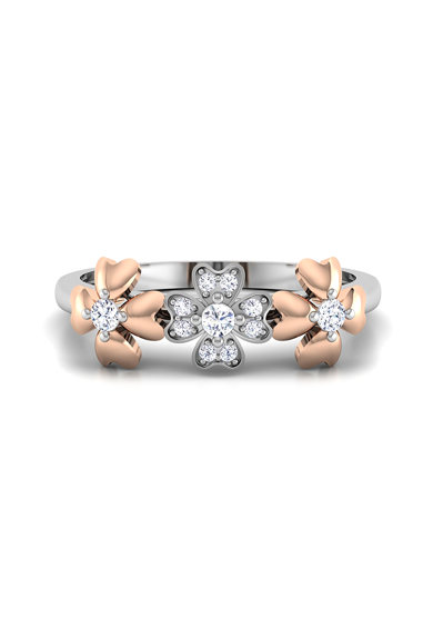Dhamont Inel decorat cu 11 diamante Femei