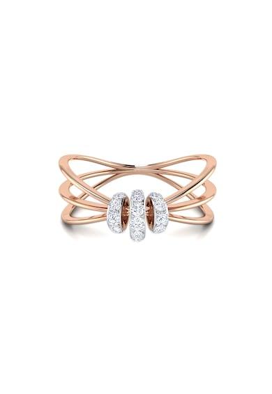 Dhamont Inel decorat cu 23 de diamante Femei