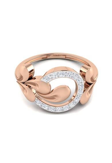 Dhamont Inel decorat cu 15 diamante Femei