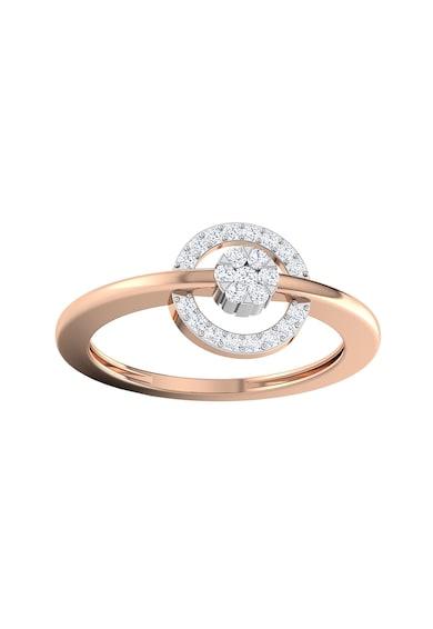 Dhamont Inel de aur de 14k decorat cu 13 diamante Femei