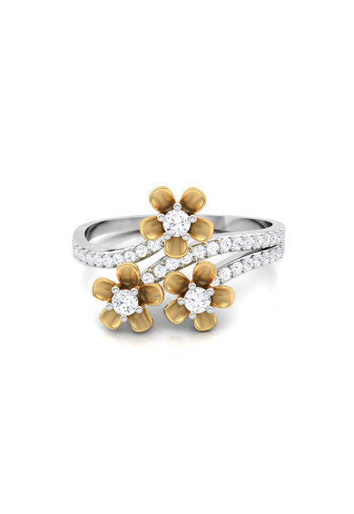 Dhamont Inel de aur decorat cu 34 diamante Femei