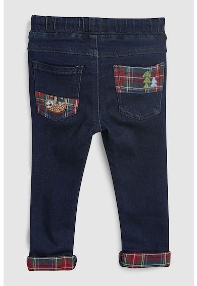 NEXT Pantaloni jogger din denim, cu snur in talie Baieti