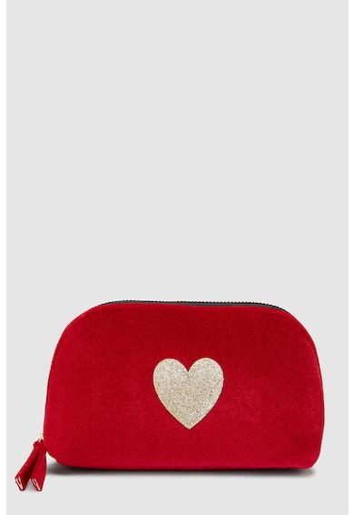 NEXT Portfard cu imprimeu catifelat in forma de inima Femei
