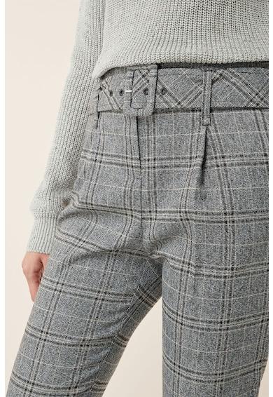 NEXT Szűkülő kockás nadrág övvel női