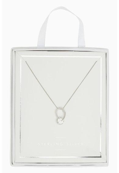 NEXT Sterling ezüst nyaklánc kristály medállal női