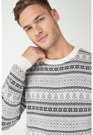 NEXT Grafikai mintás kerek nyakú pulóver férfi
