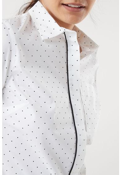 NEXT Camasa cu imprimeu cu buline si buzunar pe piept Femei