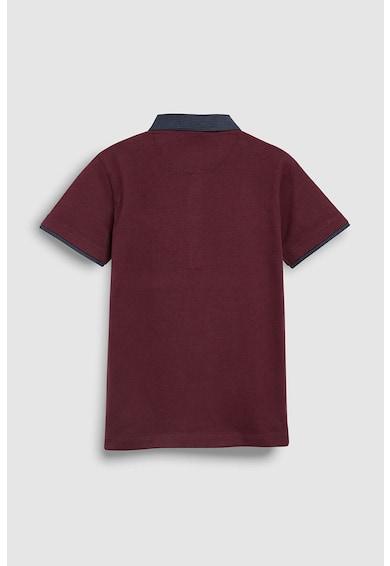 NEXT Tricou polo cu imprimeu logo si fenta cu nasturi Baieti