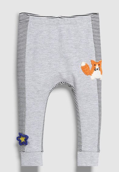 NEXT Csíkos és grafikai mintás leggings szett - 2 db Lány